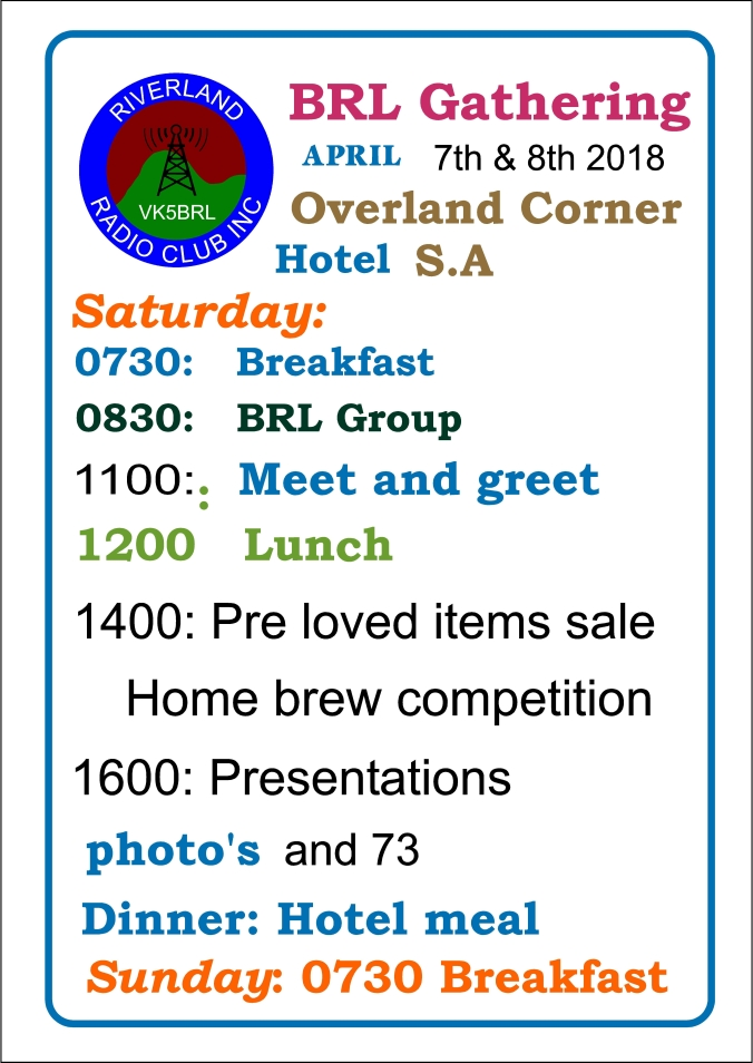 BRL Gathering Program 2018